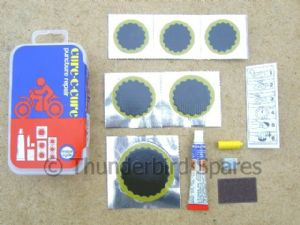 Puncture Repair Kit for Tubed Tyres, Motorcycle Use.